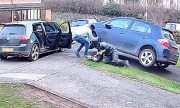 Caught In 4K: Thieves Steal Catalytic Converter From Car Parked On Owner's Driveway!