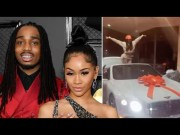 Quavo Sent The Repo Man To Saweetie's House This Morning; Took Back The Bentley! (Footage Of Saweetie's Christmas Bentley)