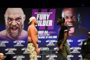 Staring Contest: Tyson Fury & Deontay Wilder Have Longest Face-Off Ever As Both Refuse To Look Away!