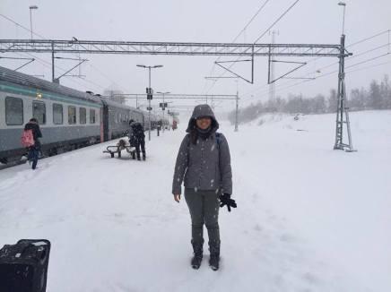 A warm (err cold) welcome in Abisko