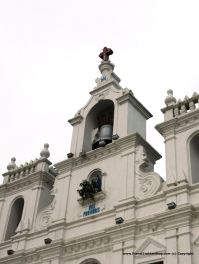 The facade of the church