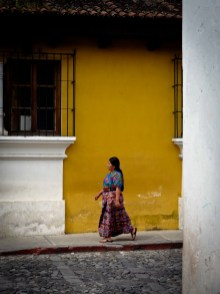 Travel Photo: Guatemala - Guatemalan Woman in a Street of Antigua
