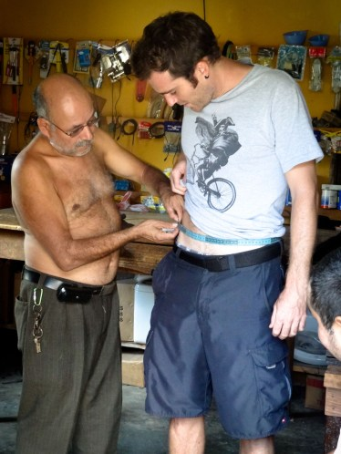 Travel Photo: Honduras - Victor at a Tailor in Copan Ruinas