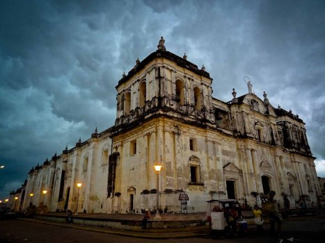 Main Cathedral in Leon Nicaragua