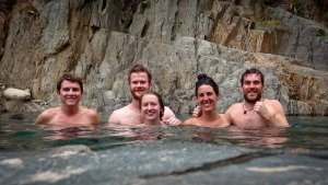 Salkantay Trek - Our Hikers at Santa Teresa's Hotsprings