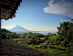 Volcano Concepcion from Finca Magdalena in Ometepe Nicaragua