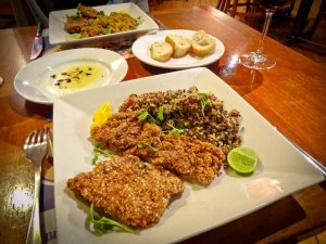 Foods of the World: Alpaca Milanese at Green's Organic Cusco