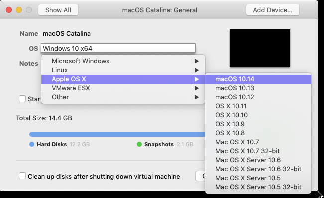 create a macOS Catalina VM with VMware Fusion - PlanetVM