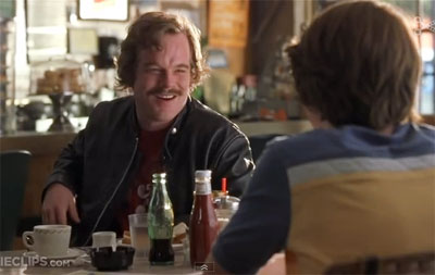 Philip Seymour Hoffman and MIchael Angarano in Almost Famous.