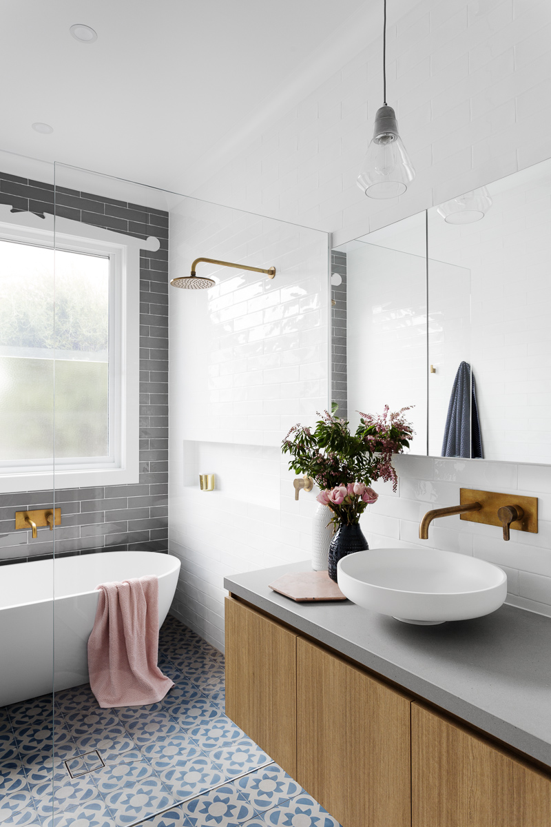 pastelowa łazienka