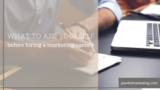 what to ask yourself before hiring a marketing agency blog post