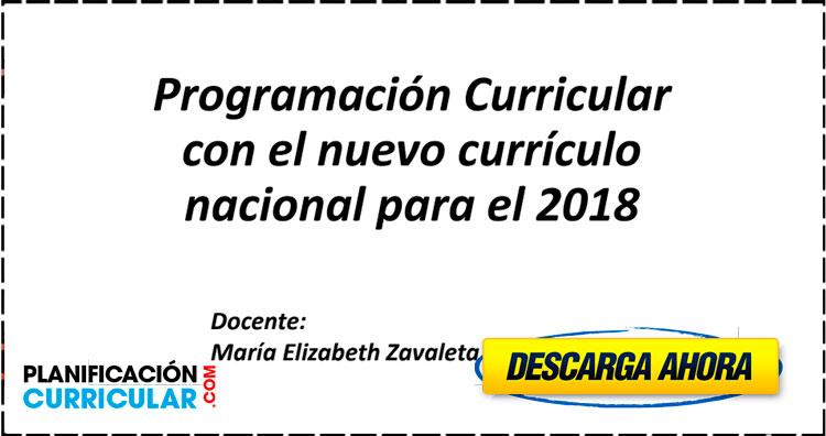 Programación Curricular con el nuevo currículo nacional para el 2018