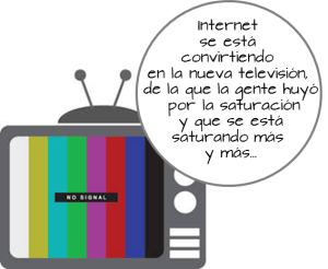 TV saturada