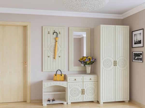 Шкаф МБ-1 01 ᐈ Купить шкаф для одежды Монблан-1 светлый ...