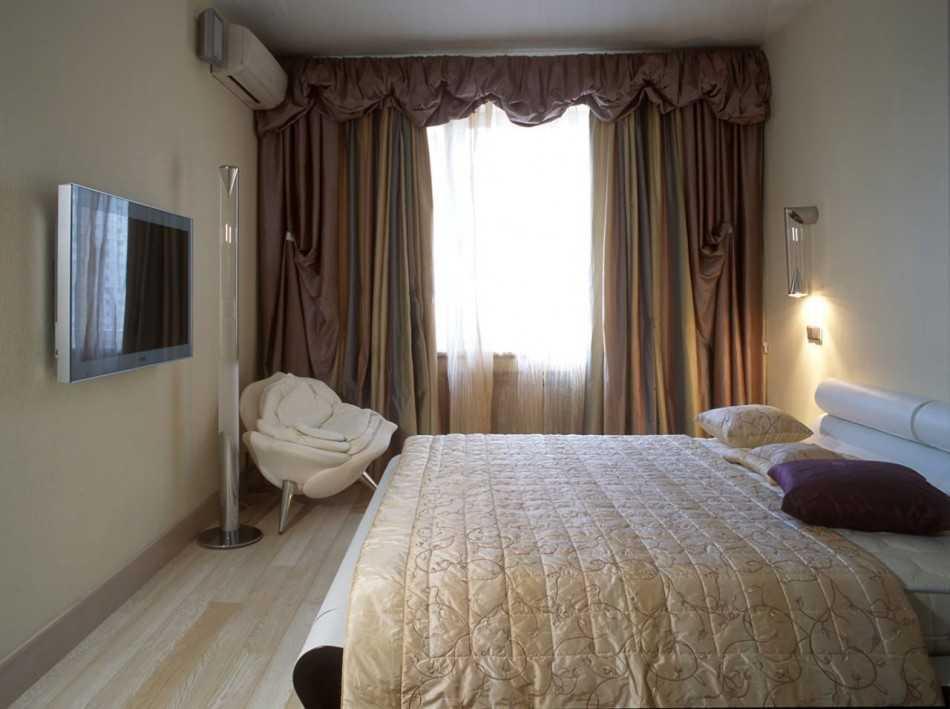 спальня 9 квм реальный дизайн фото 3