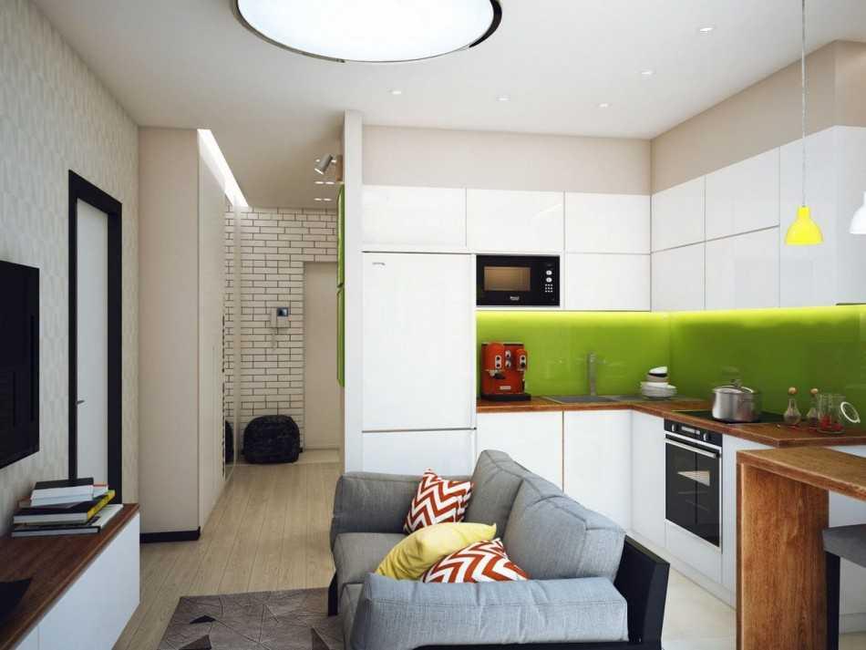 дизайн маленькой комнаты 12 квм фото с диваном и шкафом 7