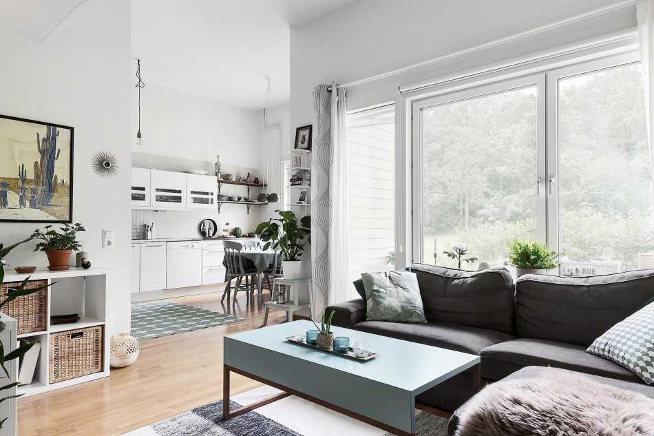 дизайн кухни гостиной 40 квадратных метров 3