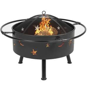 30 Inch Patio Fire Pit Grill