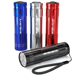 4 Pack Super Bright 9 LED Mini Flashlights