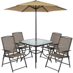 6 Piece Outdoor Folding Patio Dining Set