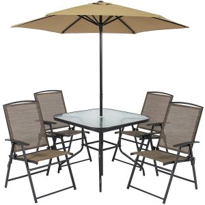 6 Piece Outdoor Folding Patio Dining Set