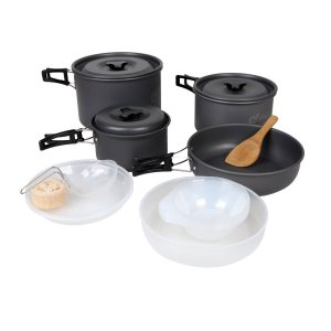 Anodized Aluminum Camping Cookware Mess Kit