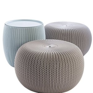 Keter 3-piece Cozy Urban Knit Outdoor Furniture Set