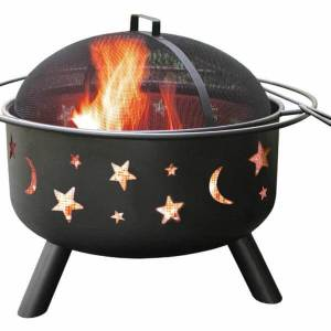 Landmann Black Big Sky Stars and Moons Firepit