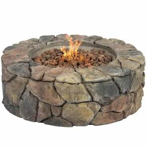 Stone Design Outdoor Gas Fire Pit