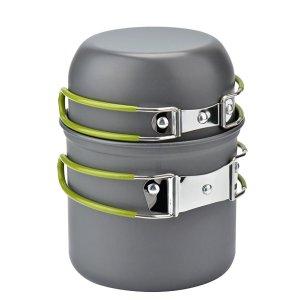 Wuudi Camping Pots And Pans 2 Piece Set