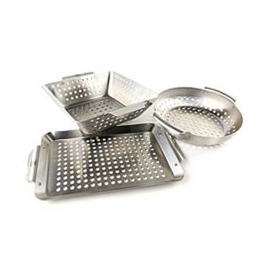 Yukon Glory 3-Piece Mini BBQ Grill Basket Set