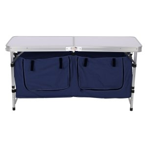 Finether Folding Camp Table with Large 2-Compartment Storage Bag