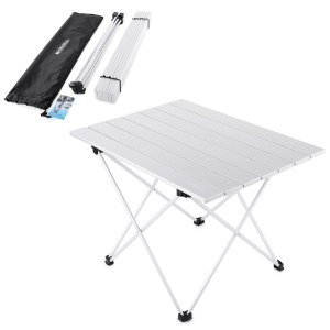 Yahill Aluminum Folding Collapsible Camping Table with Carrying Bag