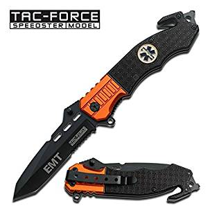 1 X EMT EMS Folding Rescue Knife with Clip