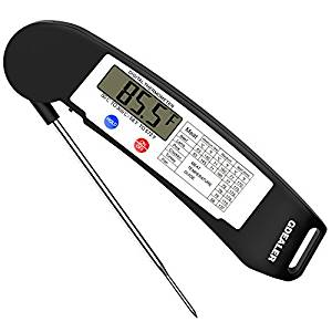 Instant Read Digital Electronic Barbecue Meat Thermometer with Collapsible Internal Probe