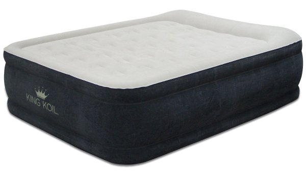 King Koil Queen Size Comfort Quilt Top Airbed with Built-in Internal Pump