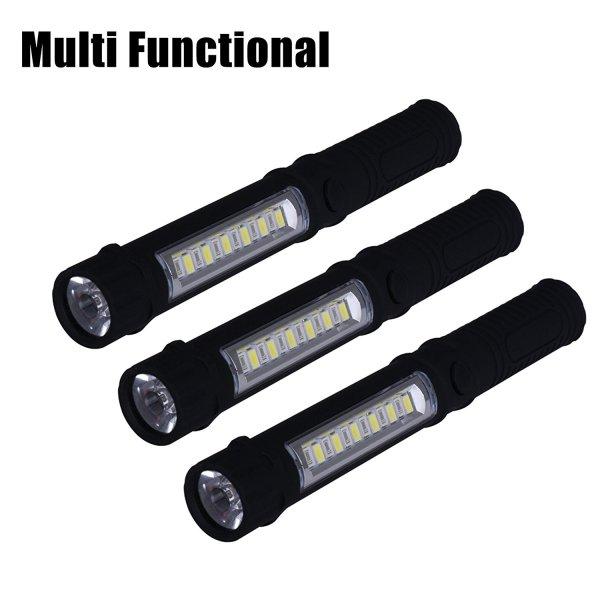 NewVan Tech 3 in 1 Multi-Function Magnetic Base LED Flashlight