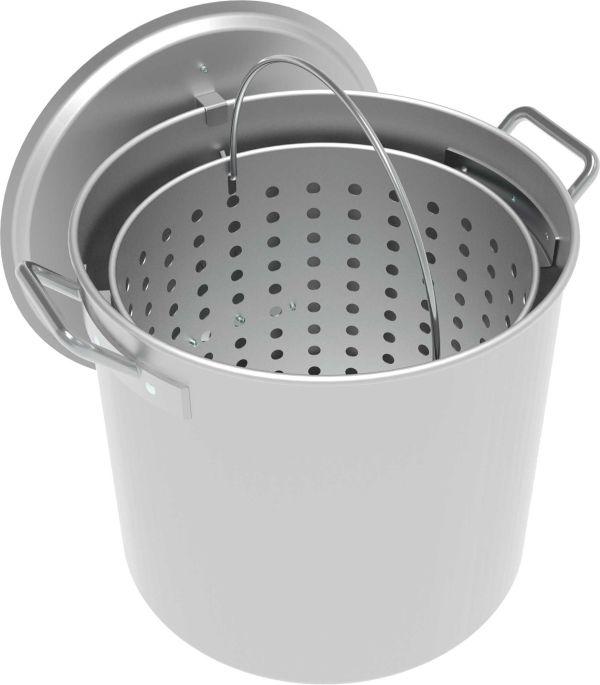 LoCo 42-Quart Aluminum Camping Pot with Strainer