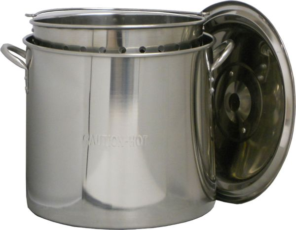 King Kooker 22 Qt Stainless Steel Pot with Basket and Lid