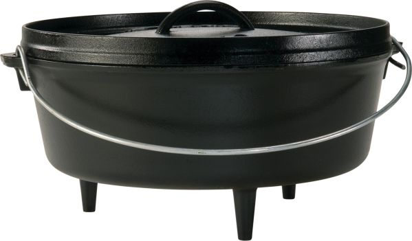 Lodge Cast Iron 6 Quart Camping Dutch Oven