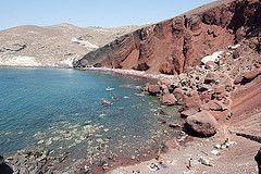 Visitar Santorini Playa Roja