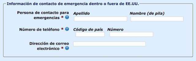 Contacto de Emergencia ESTA