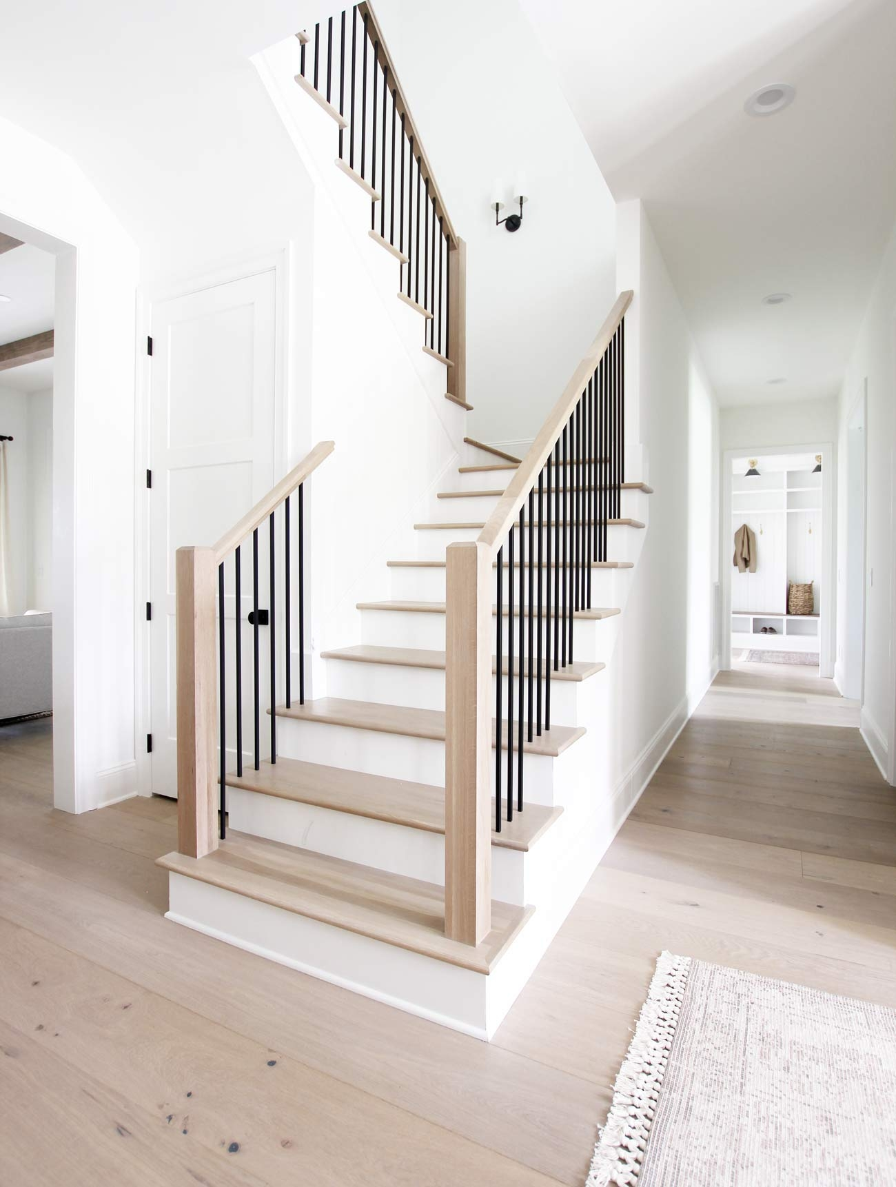 Four Elements Of A Beautiful Staircase Plank And Pillow | New Home Stairs Design | Beautiful | Entrance | Iron | Stairway | Wall
