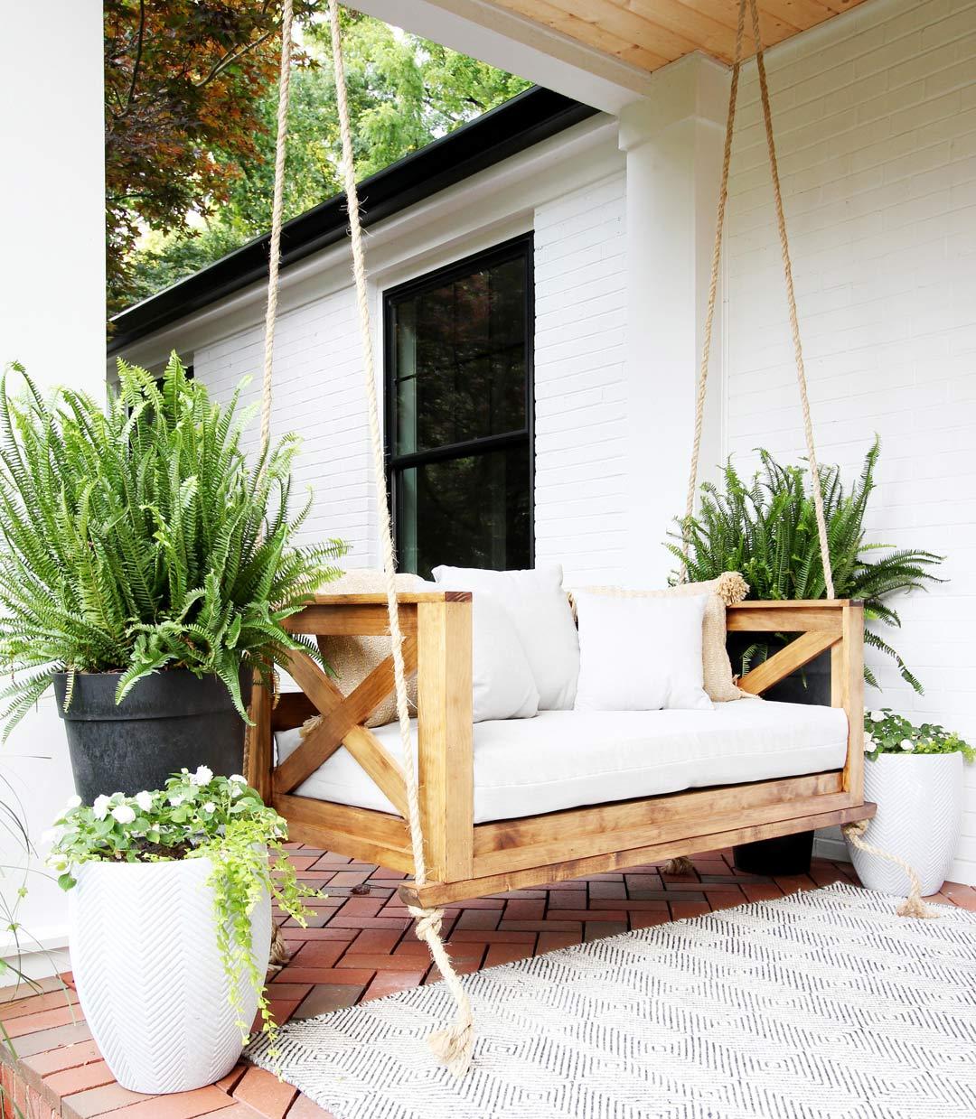 to build a crib mattress porch swing
