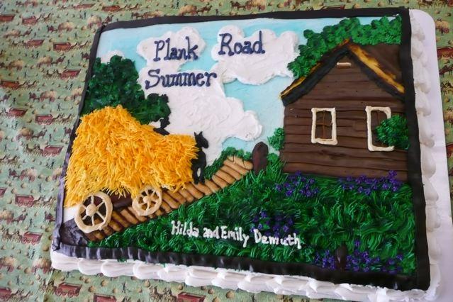 Hilda's Birthday and Book Launch Cake