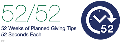 Weekly Planned Giving Tip