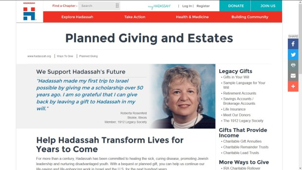 hadassa pg website