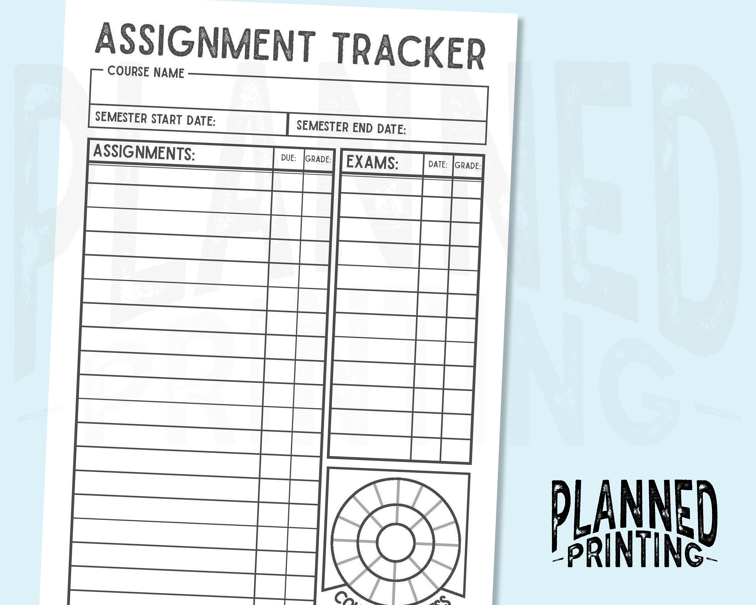 Grade Tracker Printable That Are Eloquent