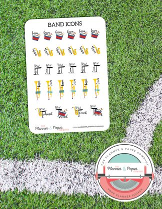 Band Icons – Planner Stickers Small Sheet