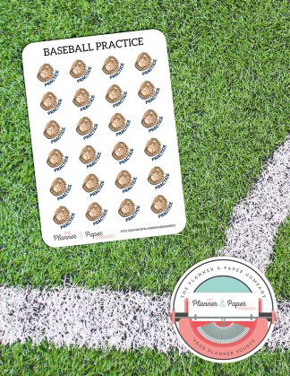 Baseball Practice – Planner Stickers Small Sheet